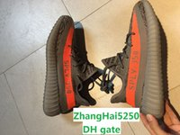 b dots - Season SPLY Boost V2 With Original Box Black White Kanye West Grey Orange Running Shoes Sneakers Boost V2