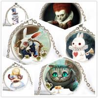 best alice - Alice In Wonderland Gifts Best Christmas Children gift cute rabbit Glass Picture Pendant glass neckalce Jewelry