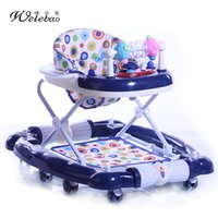 Wholesale Multifunction Baby Walker with Music Trays and Toys Rocking Horse Walker for months Kids Anti rollover Foldable