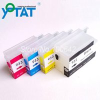 empty ink cartridges - 1 set Refillable ink cartridge for HP932XL HP933XL Officejet with ARC chip no ink level
