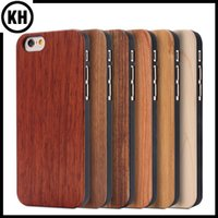 bamboo wooden - Real Natural Bamboo Wood Case Wooden Cellphone Cover For iPhone6 iPhone6 Plus S Plus Plus Hard Cases