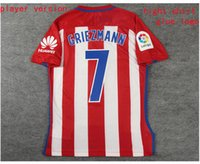 Wholesale 16 home player version GRIEZMANN KOKE F TORRES home player version soccer jersey with liga league patch