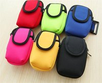 n3 mobile achat en gros de-Hot Sport Gym Exécution Zipper Arm Band Colorful Bracelet Mobile Phone Bag Housse pour iPhone 6 5 5 5S Samsung N2 N3