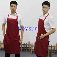 Wholesale adult men adjustable aprons multi colour working clothes cooking waiter adjustable apron