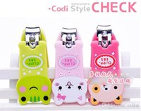 Wholesale Kids Cute Baby Animal Baby Nail Clippers Nail Clippers Scissors Cartoon Keychain Brand New Good Quality