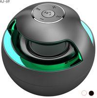 big computer speakers - AJ Portable Bluetooth Speaker Stereo Wireless Speakers Color lED Light Handsfree AUX Big Sound Subwoofer Loudspeakers