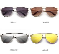 avantgarde fashion - The new sunglasses new lovers Sunglasses avantgarde anti UV Sunglasses colorful metal frame