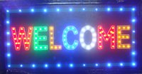 Wholesale 20pcs business direct selling X19 Inch semi outdoor Led Neon Sign for store Welcome sign