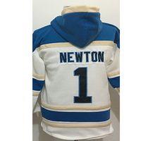 Wholesale High Quality Luke Kuechly Cam Newton White Super Bowl Sawyer Hooded Sweatshirt Hoodie Football Jerseys