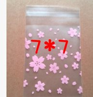 Wholesale 65 Color Disposable Plastic Candy Bag Flower Moisture Proof x7 cm Wedding Cake Packing Bag Cookie Snack Desert Packaging