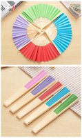 bamboo invitations - Chinese Paper Bamboo Hand Fans Wedding Fan Bridal Accessories New Arrival Party Gift different mixed color Cheap Bamboo Chinese fanfans