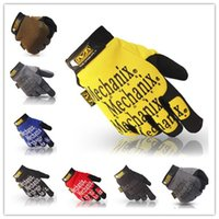 Wholesale Men MECHANIX WEAR gloves Warm Words Windproof Military Tactical Winter Hiking Ski Snowboard Motorcycle Cycling Long Five Fingers Gloves
