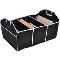 Wholesale Best Quality Black Car Storage Box Multipurpose Trunk Pouch Folding Cubby Collapsible Car Tools Organizer Portable Bag