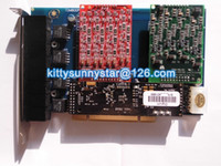 Wholesale TDM800P S400M X400M Asterisk PCI analog card with VPMADT032 Echo Cancellation Module