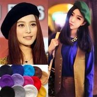 Bonnet mignon femmes chapeaux de nouvelles femmes de mode Beret Vintage laine chaude hiver chapeaux beanie chapeaux