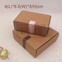 Wholesale 9 cm Kraft Paper Boxes Aircraft Cardboard Packing Boxes Handmade Soap Candy Gift Boxes