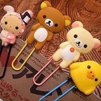 Wholesale 2016 Cute Large Rilakkuma Chicken Youyou Rabbit Paper Clip Bookmark Folder Office School Supplies Desk Accessories