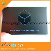 China proveedor de acabado superficial original grabado a láser de acero inoxidable tarjetas de visita / tarjetas de metal (China fabricante)