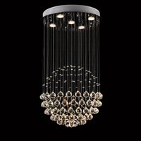 Wholesale VALLKIN Crystal LED Chandeliers Lighting Ceiling Hanging Lamp Fixtures with D50CM H80CM Ac100 V For Living ROOM