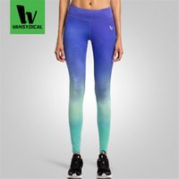 Wholesale 2016 Women Yoga Pants Compression Tights Sport Leggings Elastic Quick Dry Female Jogging Fitness Bodybuilding Running Pants fcts