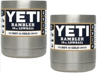 ball express - 10 oz YETI Cups Bilayer Stainless Steel Insulation YETI Mugs OZ Low ball Travel Vehicl Beer Mug YETI Rambler Tumbler SF Express