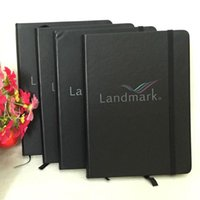 Wholesale free color location logo new PU cover company logo customized notebook N002