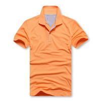 Wholesale size Polos men s SHIRT MENS polos shirts simplicity Brand men lapel t shirt Classic solid color T shirt