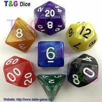 Wholesale Wholesales differents color RPG Digital Dice set with Pearlized effect D4 D6 D8 D10 D10 D12 D20 for boards games dadi gioco