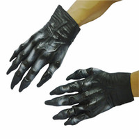 adult ball glove - Halloween Adult Costumes Cosplay Dress Black Gorilla Horror Latex Gloves Gorilla Wolf Gloves Cosplay Makeup Party Ball Costume