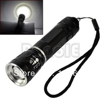 Wholesale Adjustable Focus CREE Q5 Rechargeable LED Flashlight Torch LM Zoom LED Flash Light Modes TK0045