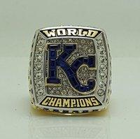2015 Reales de Kansas City World Championship Series tamaño del anillo 8-14 PEREZ