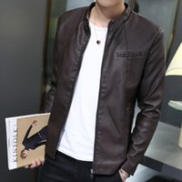 airs buy - Male leather clothing slim stand collar motorcycle thin for air force pilot leather jacket outerwear for lg do buy it