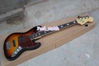 Wholesale Custom Shop F Strings JAZZ BASS Hot selling Electric guitar with headcase super High Quality fashional dark orange