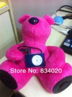 bear speakers - New Arrival Lovely Bear Plush Toy SOUND Speaker amp Mini apod MP3 sports MP3 Speakers Cheap Speakers