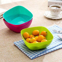 Wholesale Home Food Grade Plastic Square Salad Bowl Fruit Plate Fruit Plate Seeds Small Snack Candy Dish Dried Fruit Bowls