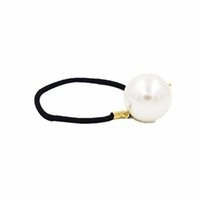 Wholesale Big pearls hairbands for women round simulated pearls Elastic hairbands headwear Lady girls New Fashion pony tails holder hair Jewelry