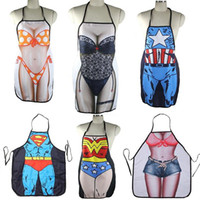Wholesale Cooking Apron Funny Novelty BBQ Party Apron Naked Men Women Sexy Rude Cheeky Kitchen Cooking Apron