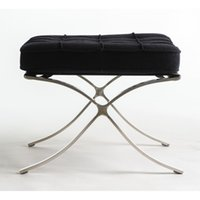 barcelona ottoman - Barcelona ottoman small ottoman genuine leather stainless steel storage ottoman foot stool home furniture living room sofa chair ottoman