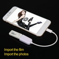 Wholesale iphone external usb card reader Flash Drive HD USB OTG Card Reader for cell phone iphone IPAD4 IPAD MINI IPAD AIR