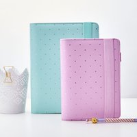 agenda planners - New Designed Notebook Min Lilac Planner Zipper Elastic organizer books Diary Agenda Hot Selling School Office Supplies