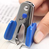 Wholesale 10pcs Stationery Supplies New Mini Portable Standard Metal Staple Remover For Office and School Office Binding Supplies