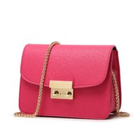 fashion women leather hand bags - Fashion faux Leather Chain Bag Mini Messenger Hand Bag Cross Body Bag Designer Bag color