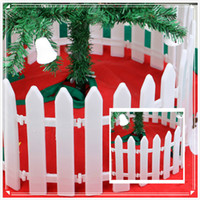 bamboo fencing - PVC sales Christmas decorations festival Shop decoration Scene layout Fence Christmas tree Enclosure Bamboo fence