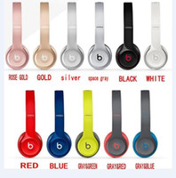 beat free - Used Beats solo2 Wireless Headphones Noise Cancel Bluetooth Headphones Headset with seal retail box DHL FREE