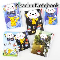 Wholesale Lovely Size Cartoon Poke Pikachu Notebook With A Ballpoint Pen Diary Planner Poke Stationery School Office Supply B0548