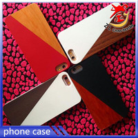 bamboo water color - Hot Wooden Fashion Spell color case For iPhone s Back Cover Shockproof Real Wood Bamboo PC Phone Cases Covers