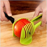 Wholesale Kitchen Handy Tomato Fruit Lemon Cucumber Vegetable Slicer Cutter Holder with Handle