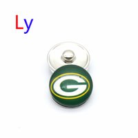 alloy sports bars - NOOSA Wisconsin green bay sports snap button interchangeable packers snap bracelets jewelry snap ginger button Chunks Clasps Snap YD0015
