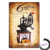 100% Cotton antique printing machines - Antique coffee machine Metal Tin Signs Painting Art Poster Restaurant Lounge Home Store Cafe Bar Plaque E103