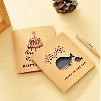 Wholesale Vintage Style Hollow Out Greeting Card Postcard Birthday Gift Card Set Message Card Letter Envelope Gift Card